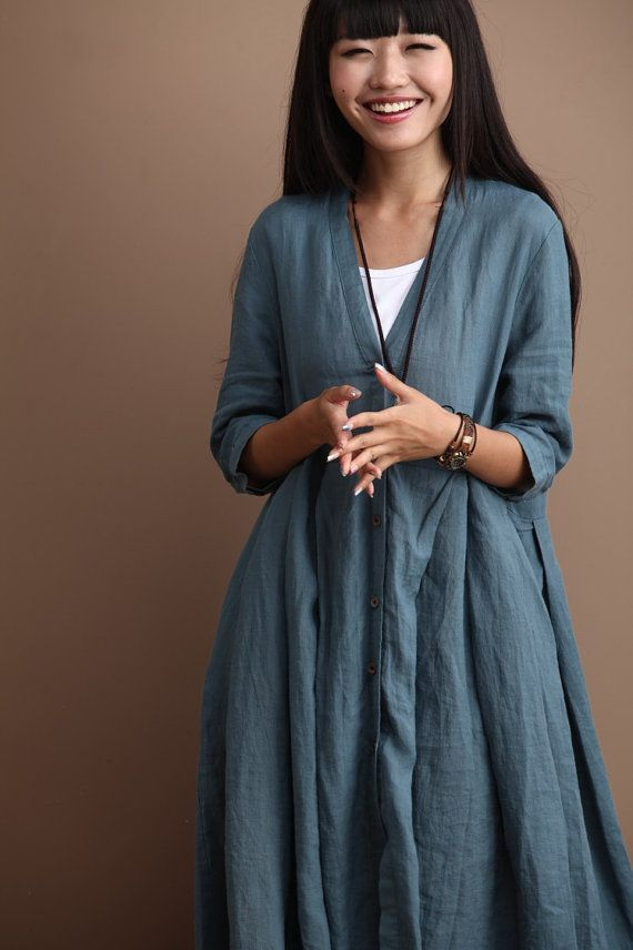Loose fitting long shirt blouse for women women clothing for Long linen shirts for womens