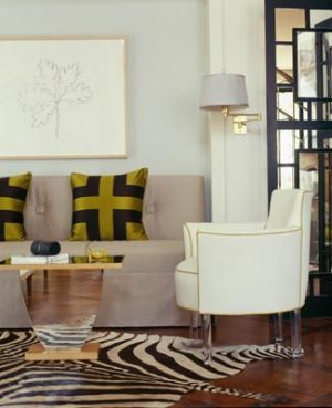 Designing with animal prints - room with animal print rug - myLusciousLife blog.jpg