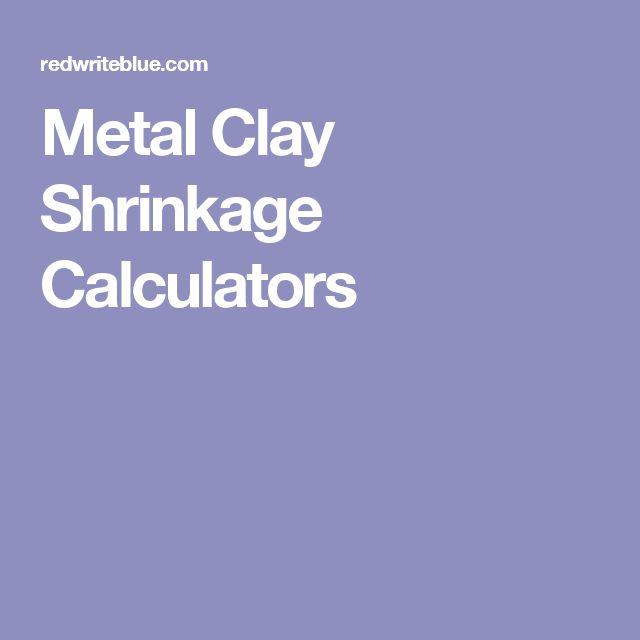 Metal Clay Shrinkage Calculators