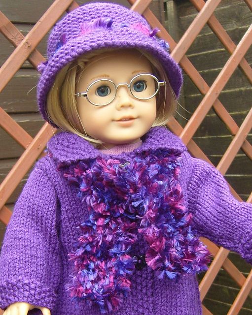 American Girl doll Free Fashion Scarf knitting Pattern pattern by Jacqueline Gibb
