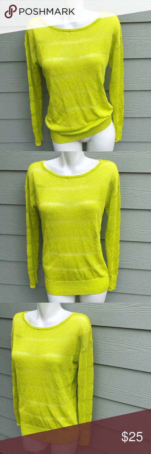 Halogen Knit Neon Yellow Top In good condition Halogen Sweaters Crew & Scoop Necks