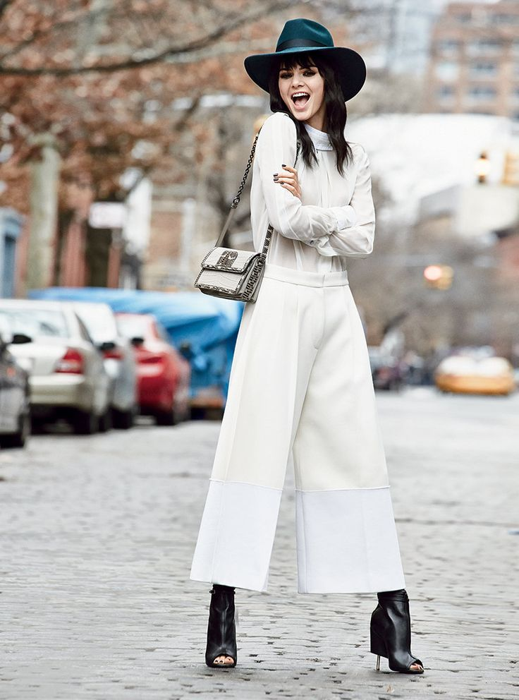 Kendall Jenner in minimalist street style.