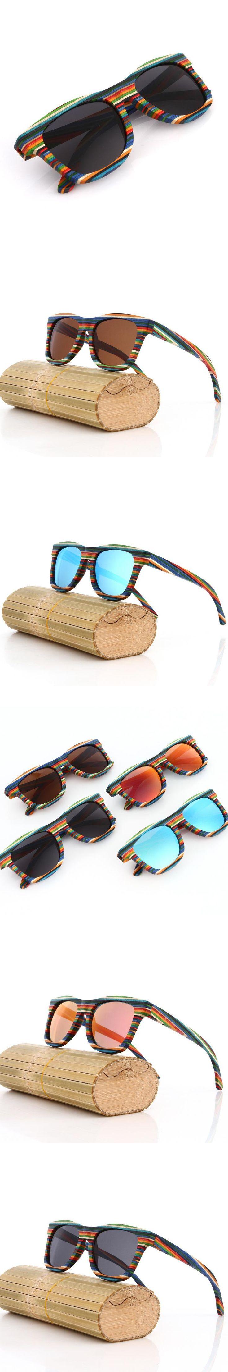 Hot Sale Unisex Vintage Design Handmade Skateboard Wooden Sunglasses Men Polarized