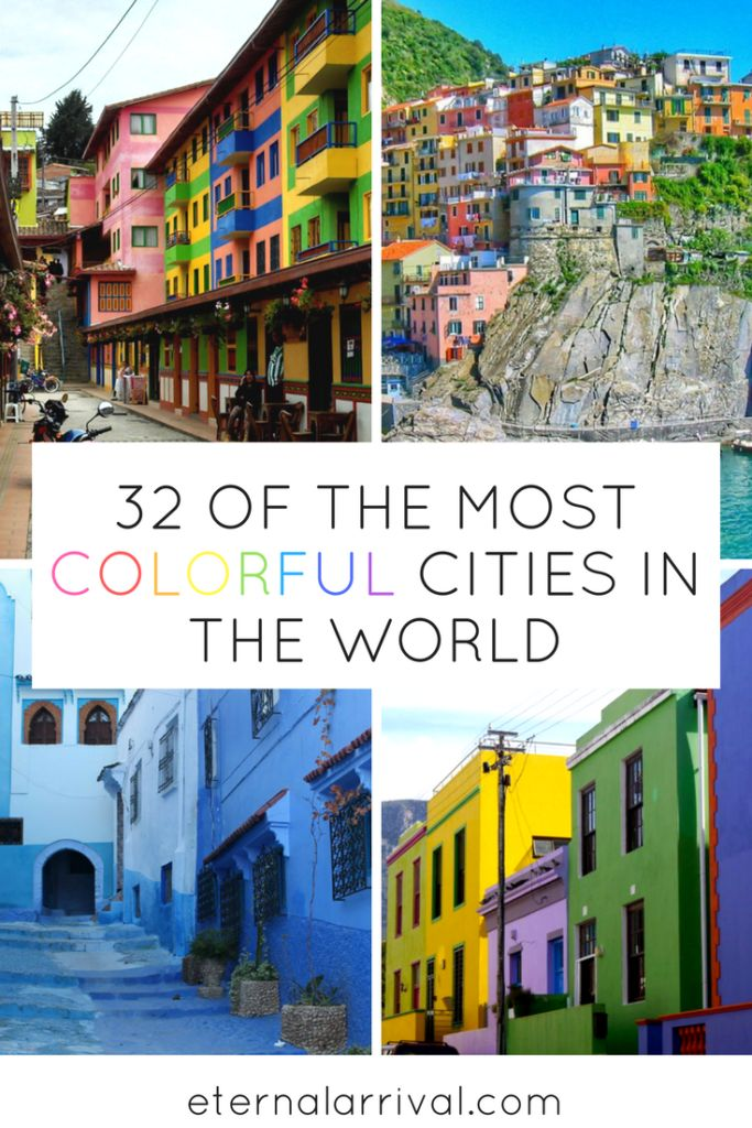 The most colorful cities in the world to add to your travel bucket list! From well-known Burano and Cape Town to lesser known towns in Translyvania and Poland, get inspired to see more of the world!