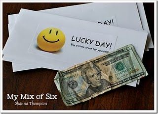 What a fun family activity.  Make someone's day with a lucky day surprise