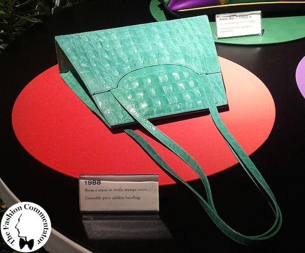 Pitti 86 - Vintage Braccialini bag at the exhibition Il Giardino Incantato by Braccialini