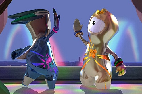 Wenlock and Mandeville #London2012 #OlympicGames