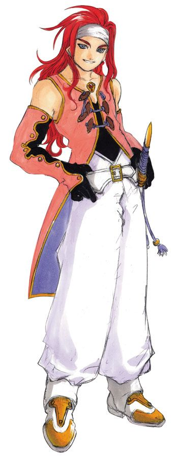 Tales of Symphonia. Character design of Zelos Wilder by Kousuke Fujishima.