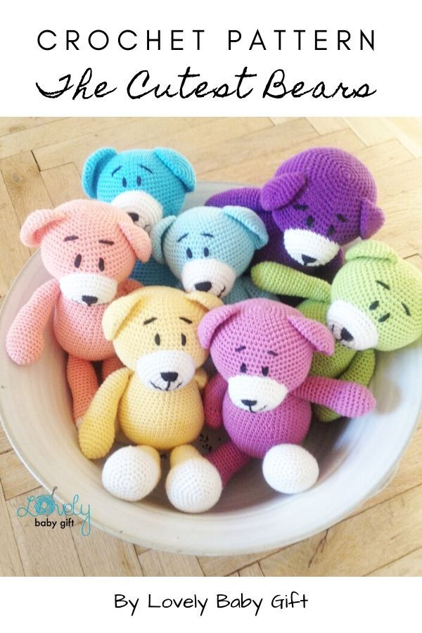 Amigurumi Bears (With images) | Fun crochet projects, Bear crafts ... | 900x600