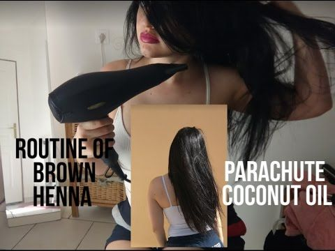 My Henna hair dye routine+Parachute coconut oil