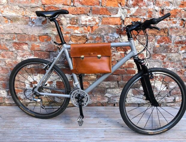 Elegance To Your Commute Bicycle Frame Bag Slim Leather