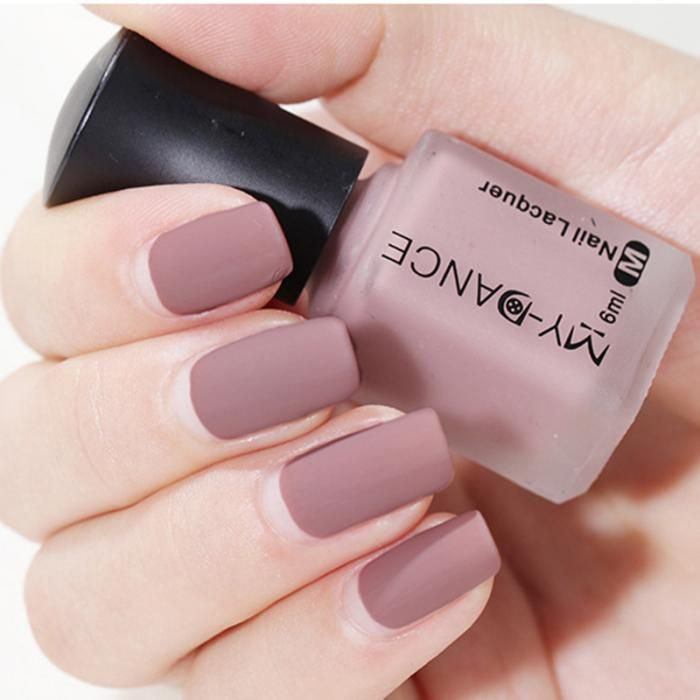 Women Matte Nail Polish DIY Art Long Lasting Satin Manicure Non toxic Fashion Ma…