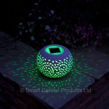 Filigree ceramic globe jar by smart garden products