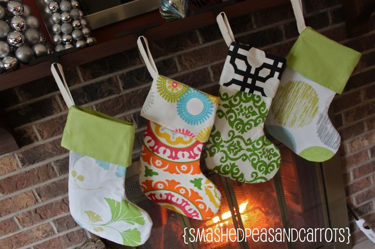 Cheery Christmas Stockings {Tutorial} - Smashed Peas & Carrots