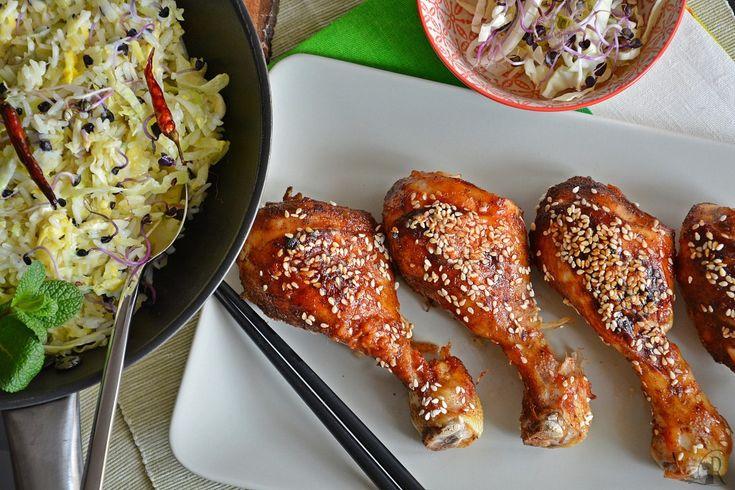 Pollo glassato alla coreana con riso al salto