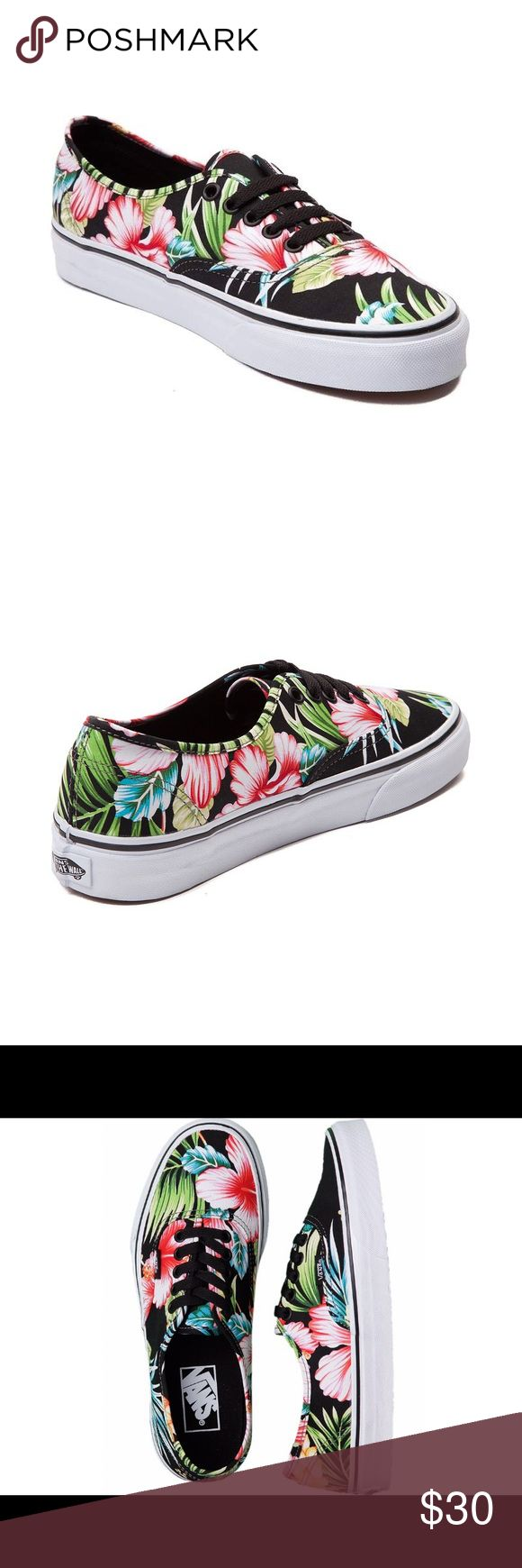 Vans Authentic Hawaiian Floral Black Sk8 Shoe These shoes are brand spankin new. I removed the tags when I first bought them but 100% completely unworn. They still have never even been laced up yet!  I included photos from the Internet to show what they will look like once they're laced up! Vans Shoes Sneakers