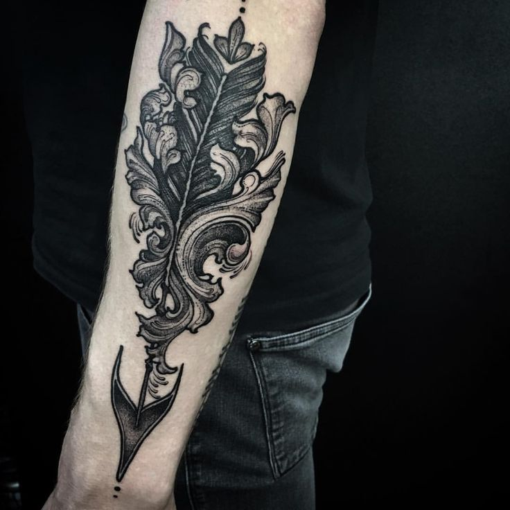 ~ Ornate Arrow ~ @sbldnttt #tattoo #blacktattoo