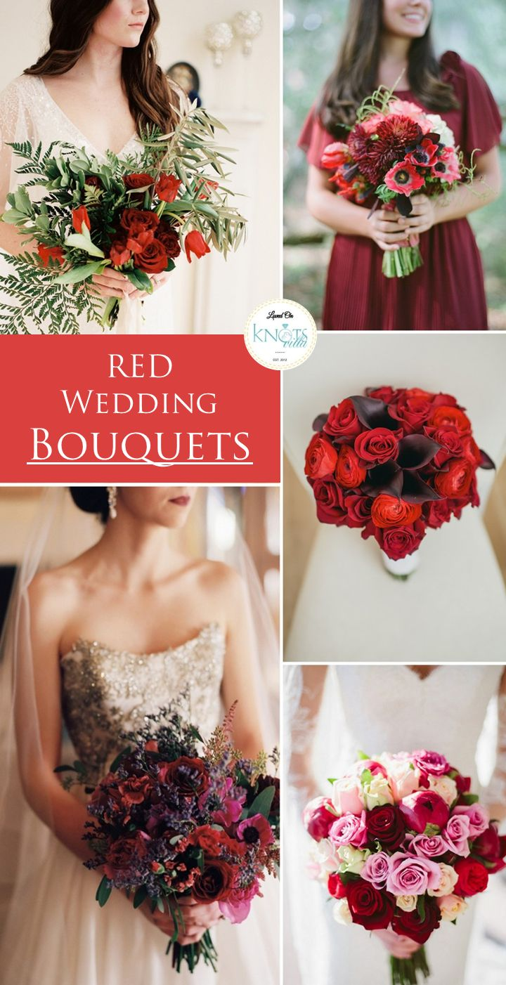 Red Wedding Bouquets!
