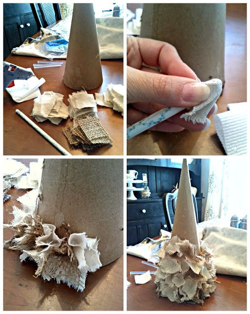 Burlap Projects | Diy beautify Burlap Christmas Tree How To