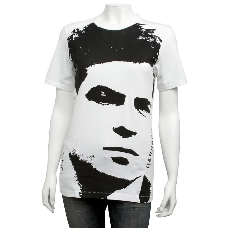 Official LFC Ladies White Gerrard Tee, £10.80  Order here: http://store.liverpoolfc.tv/Ladies-White-Gerrard-Tee/pid-30443
