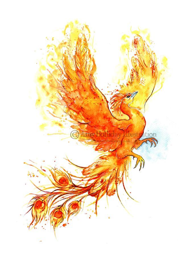 Amy Holliday Illustration: Tattoo: A Phoenix Risen!