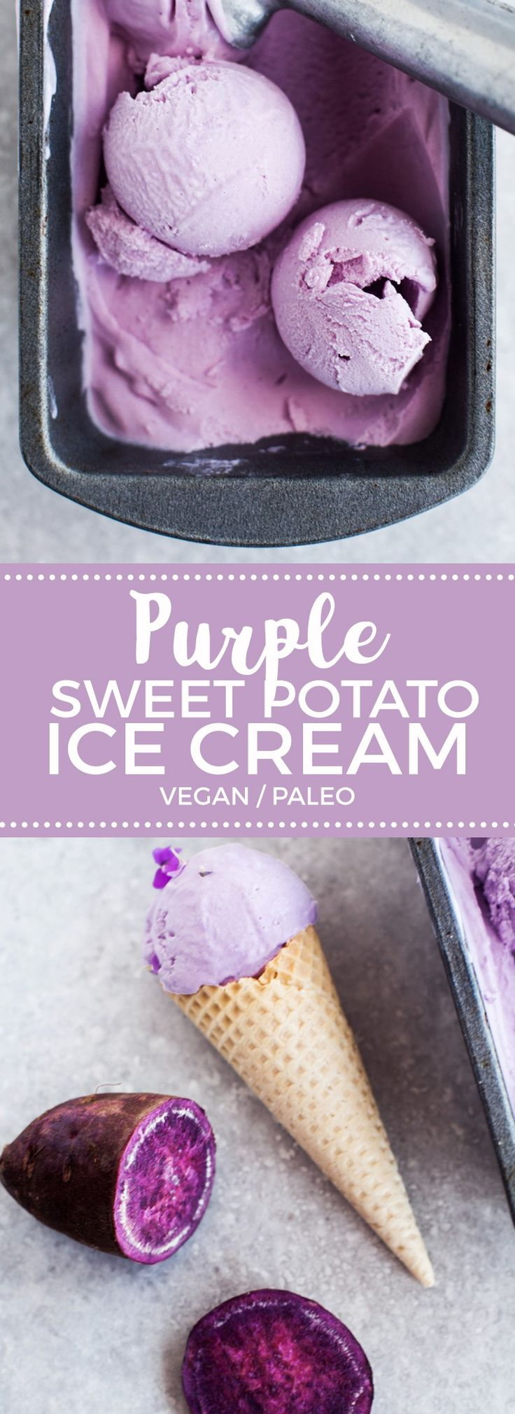 Coconut & Purple Sweet Potato Ice Cream (Vegan)                                                                                                                                                                                 More