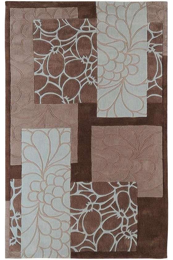 Charming Blue U0026 Brown Rubia Area Rug