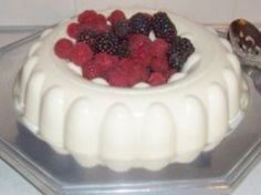 White Jello - - 8oz Cream Cheese, softened - 1/2 Cup Sugar - 1/2 Cup Water (boiled to dissolve jello) - 1 Envelope Knox Gelatin - 1 Cup Milk - 1TBS Lemon Jello -1 tsp Vanilla - 8oz Cool Whip ***Beat Sugar and cream cheese**dissolve Knox Gelatin in boiling water, set aside**Mix milk, lemon jello & vanilla, add to cream cheese mixture, add dissolved gelatin, beat til smooth**add cool whip**refrigerate in jello mold til solid.