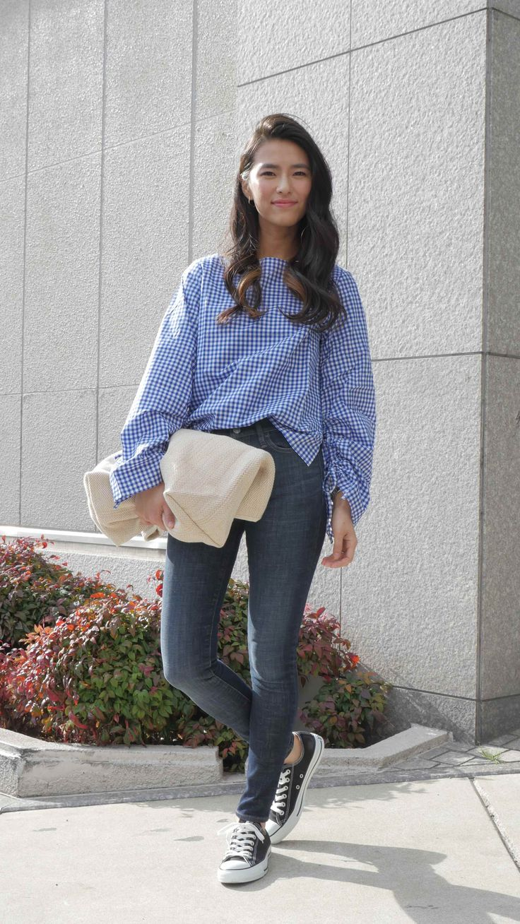 丹羽晃子/Gap ショップスタッフ #ファッション#チェックシャツ#カジュアル#お洒落コーデ#流行コーデ#バンツスタイル#スタイリング#春コーデ#バッグ#Gap