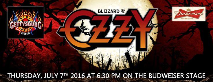 Blizzard of Ozzy at #Gettysburg Bike week!