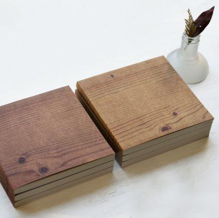 Libreta efecto madera de hojas recicladas. A la venta en: www.mrwonderfulshop.es #libreta #efectomadera