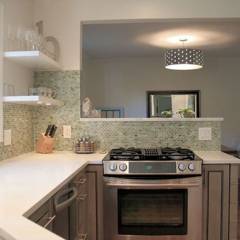 Kitchen Pass Through Window Small Kitchen Design Ideas, Pictures, Remodel, and Decor - page 4