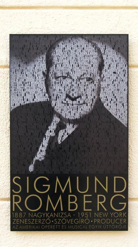 Sigmund Romberg memorial plaque