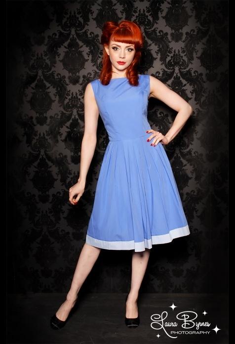 Periwinkle Sleeveless Dress - Pin up girl clothing