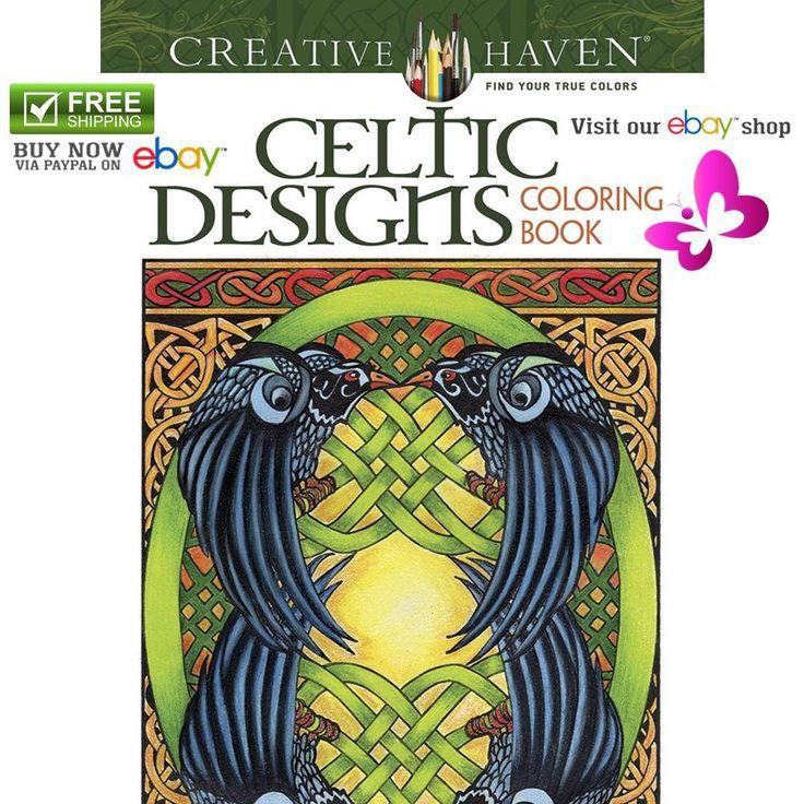 NEW Decorative Arts Designs Adult Coloring Book Creative Haven Celtic Artworks