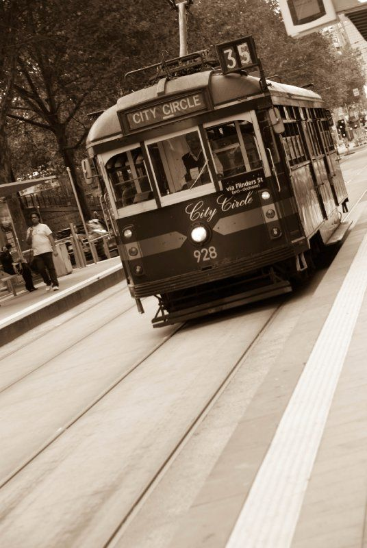 The Tram- Melbourne, Australia. Yup... I rode this :))