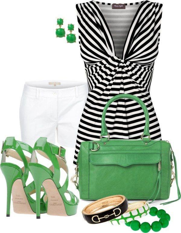 Crisp black and white with a daring pop of color.