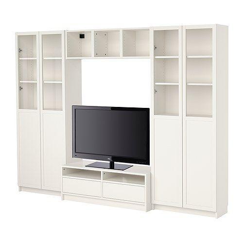 BILLY Agenc bibliothèque+meuble télé - blanc  - IKEA
