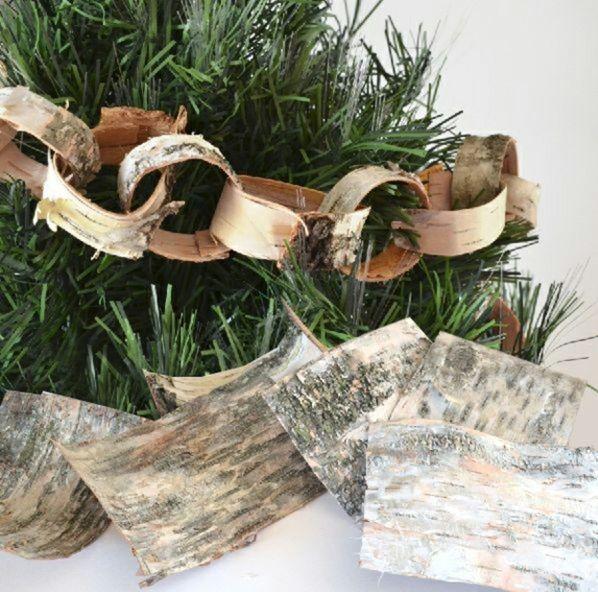 weihnachtsbasteleien diy girlande aus holz