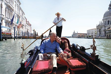 Boating on the Venice canals