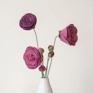 fleurs en feutre (tutoriel gratuit - DIY) - tutolibre