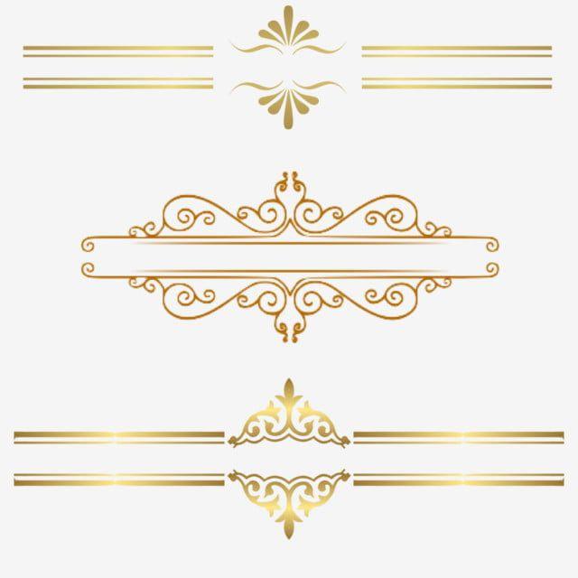 Gold Line Border Gold Dendrite Gold Frame Euporean Pattern Png Transparent Clipart Image And Psd File For Free Download Frame Border Design Banner Clip Art Clip Art Borders