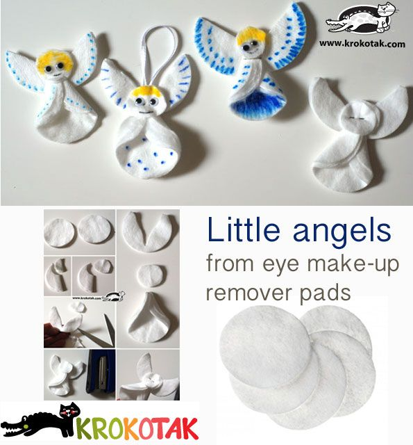Little angels from eye make-up remover pads