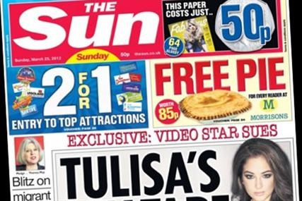 The Sun's Sunday edition has lost a quarter of its sales since launch, according to figures from the Audit Bureau of Circulations (ABC) today, with the tabloid newspaper averaging a circulation of 2.43 million in March.  http://www.mediaweek.co.uk/news/1126878/Sundays-Sun-loses-quarter-launch-circulation/