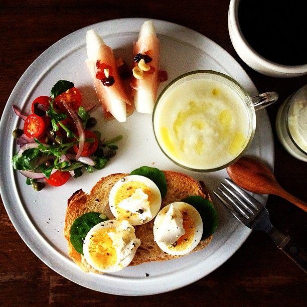 Today's breakfast. Cabbage Soup. キャベツのスープ - @keiyamazaki- #webstagram