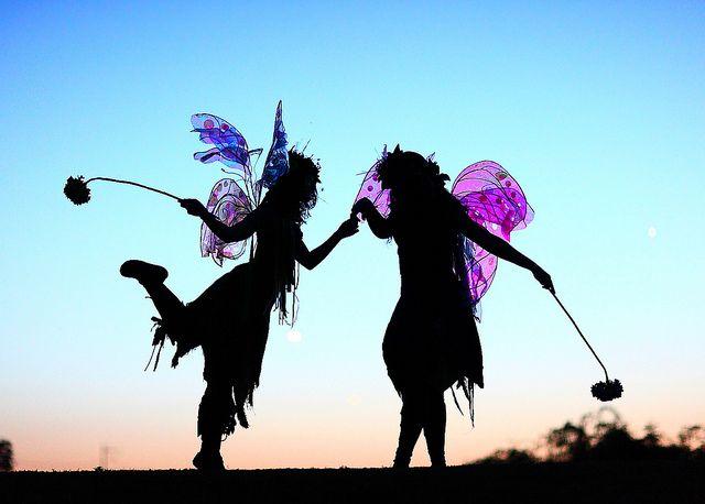 Twig the Fairy and Zinnia the Fairy Magical Silhouette Freestone Park Gilbert AZ by gbrummett via Flickr