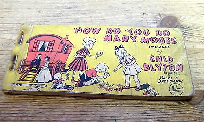 "Vintage Enid Blyton ""How Do You Do Mary Mouse"" Strip Cartoon Book"