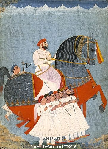 Amir Khan with escort. India, early 19th century