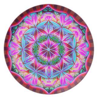 Yoga Mandala meditation, Mantra Om -  plate
