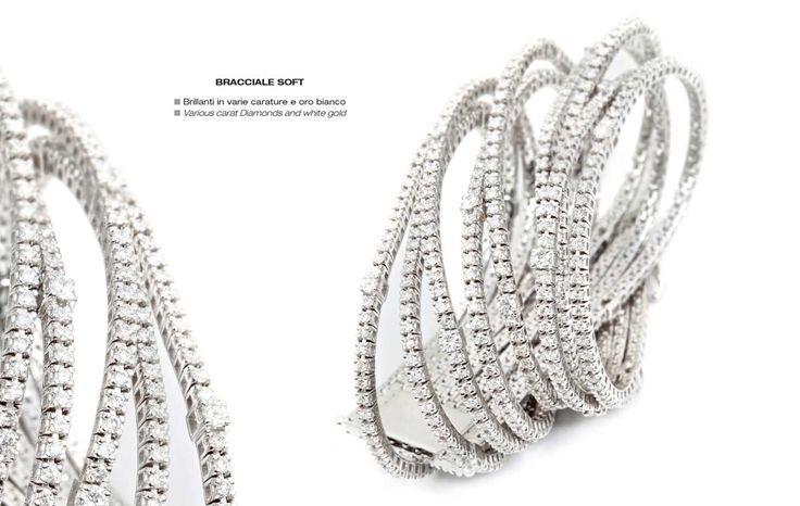 Bracciale Soft - Various carat Diamonds and white gold - Brillanti in varie carature e oro bianco #jewelry #gioielli #luxury #madeinitaly #classic